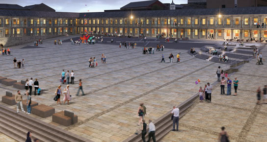 Piece Hall CGI