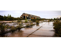 Photo of a brownfield site