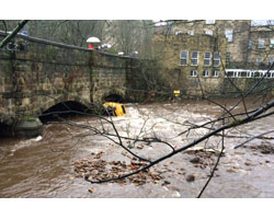 Photo of flooding in the Calder valley
