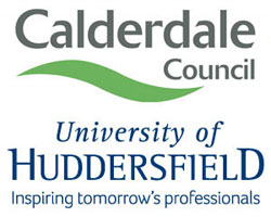 Calderdale Council and Huddersfield University logos
