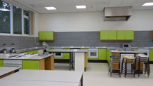 Adult Learning cookery room at Heath Campus