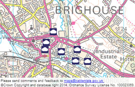 Map showing Part B permitted premises