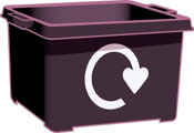 Empty recycling box