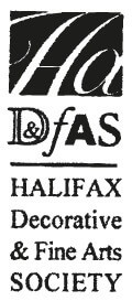 Black and white logo for Halifax Decorative and Fine Arts Society