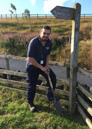 Philip Singh volunteering in the countyside