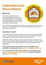 Image of safe place scheme flyer