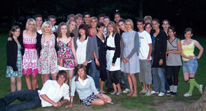 Participants of the 2008 Elland Riorges youth exchange visit