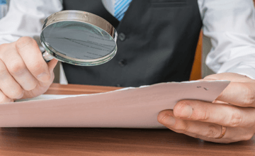 scrutiny document magnify