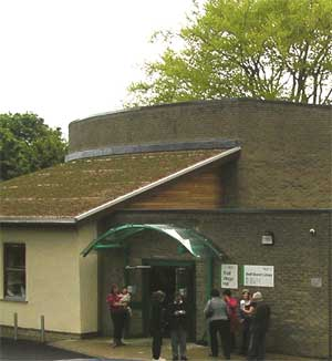 Shelf Village Hall entrance