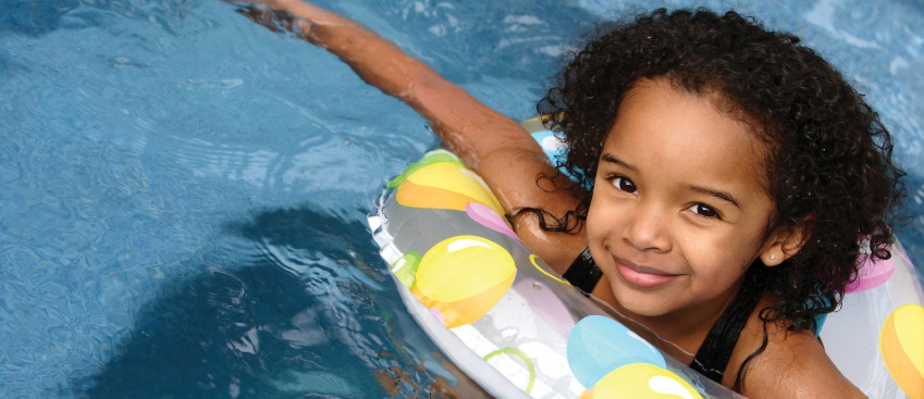 girl in a float