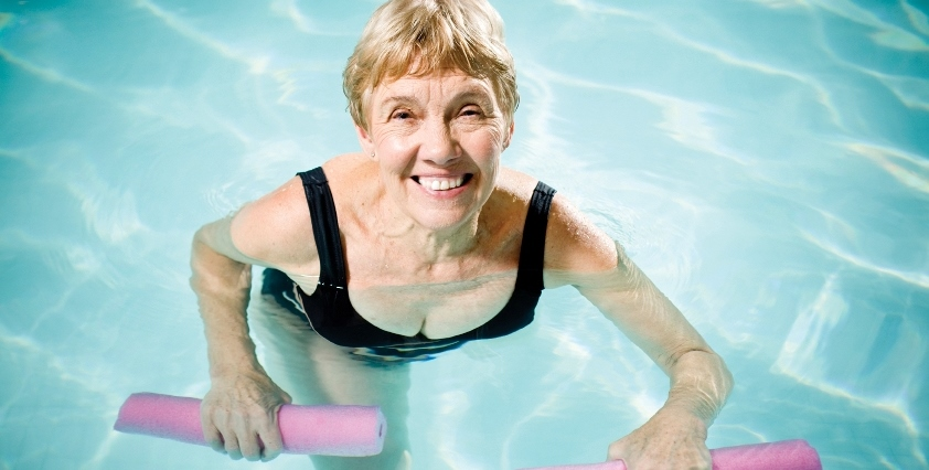 older lady swimming