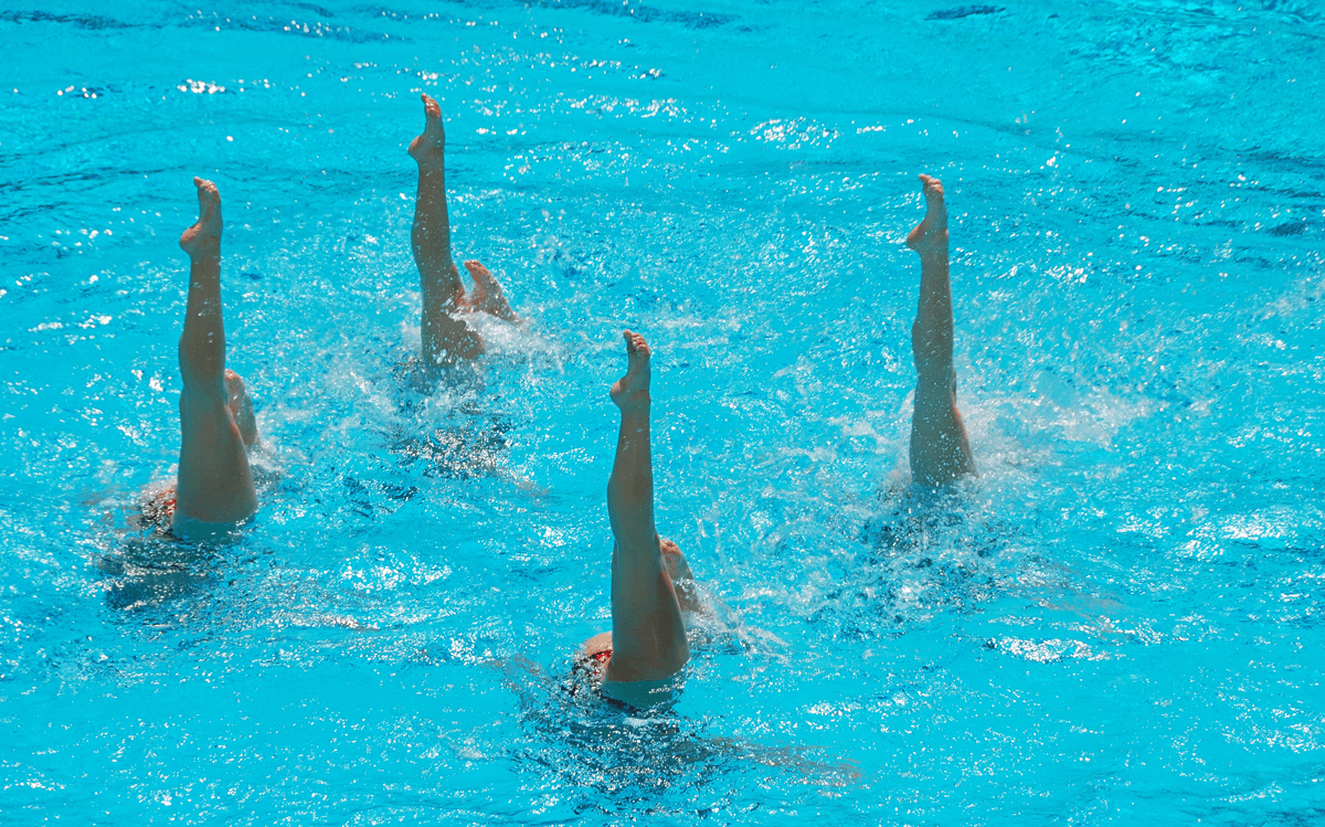 ladies doing synchro