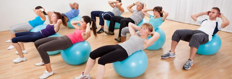 people doing pilates