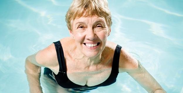 older lady swimming