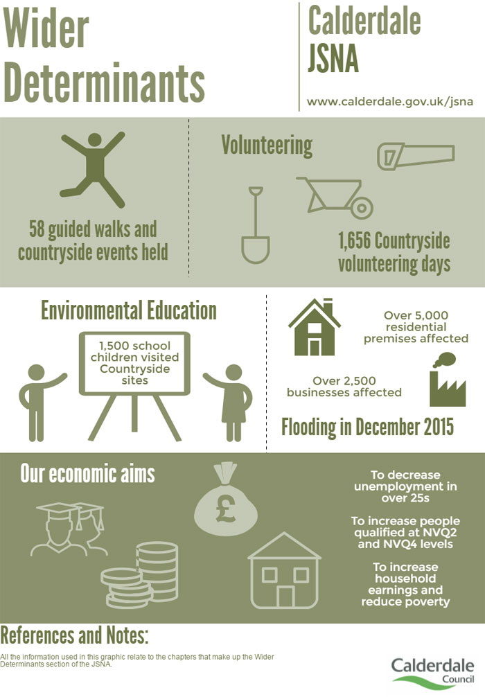 Infographic for the Wider determinants chapter