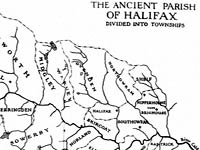 Map of the ancient parish of Halifax