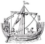 Depiction of a medieval ship